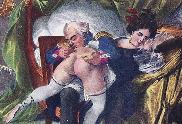 Erotic art essential: an image of Curiosa from the Memoires de Casanova