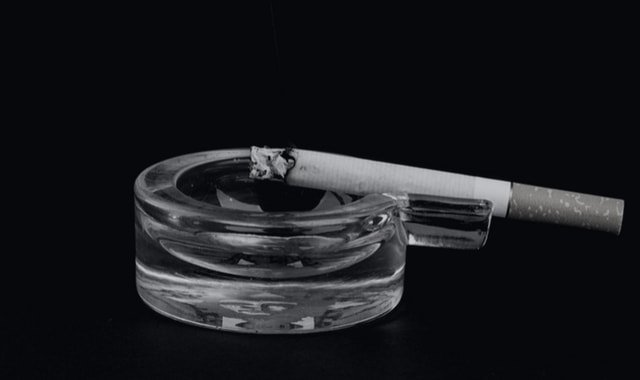 Lit cigarette prop to help with fear play
