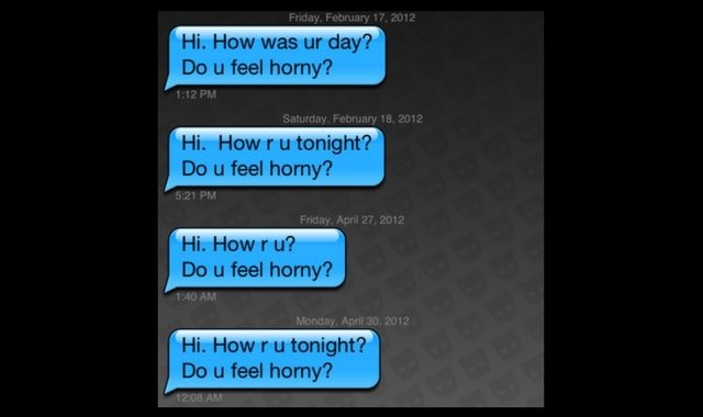 Bad dating message screenshot