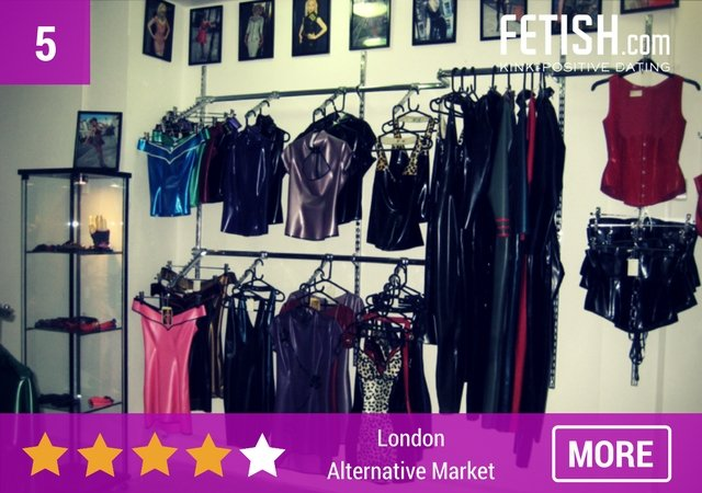 London Alternative Market Wardrobe - Top 10 Best Sex Shops in London