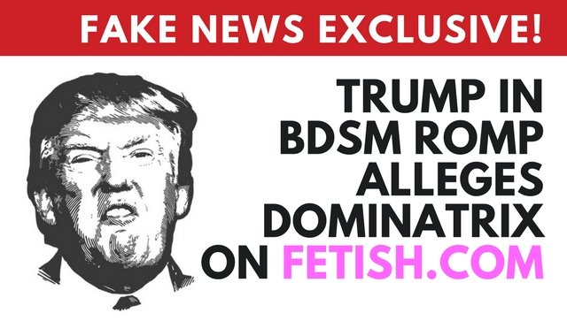 Donald Trump in April Fools joke on Fetish.com
