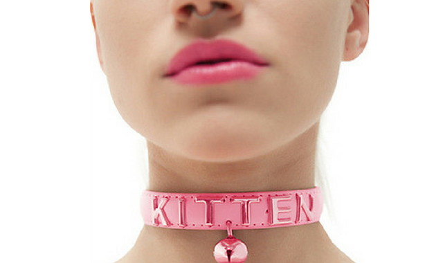 image of adult babygirl with kitten collar