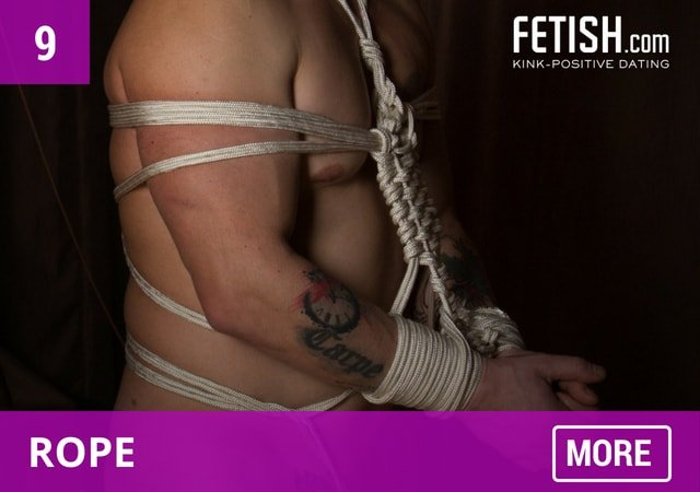 gay fetish man in rope bondage