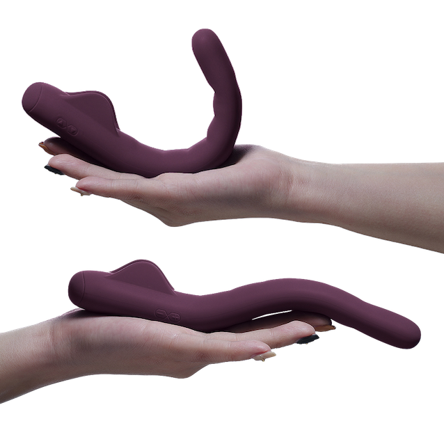 Poseable positions of the MysteryVibe Crescendo sex toy