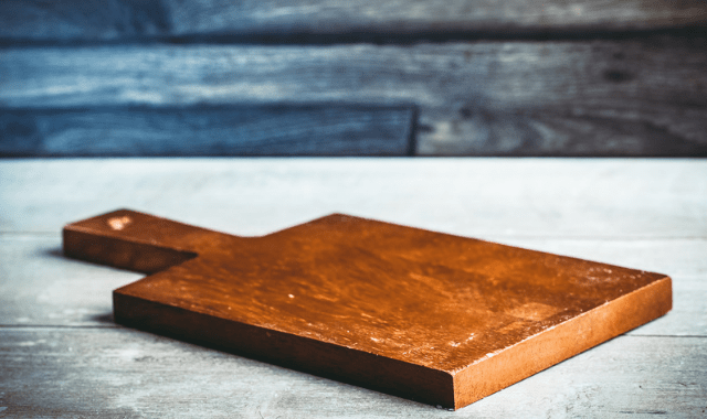 A wooden cutting board can become a homemade sex toy