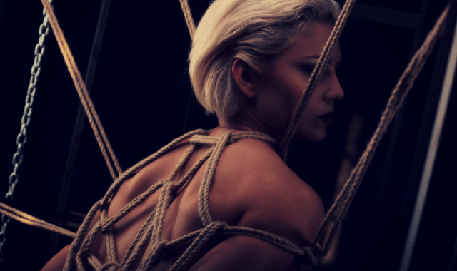 Rope play - woman tied up